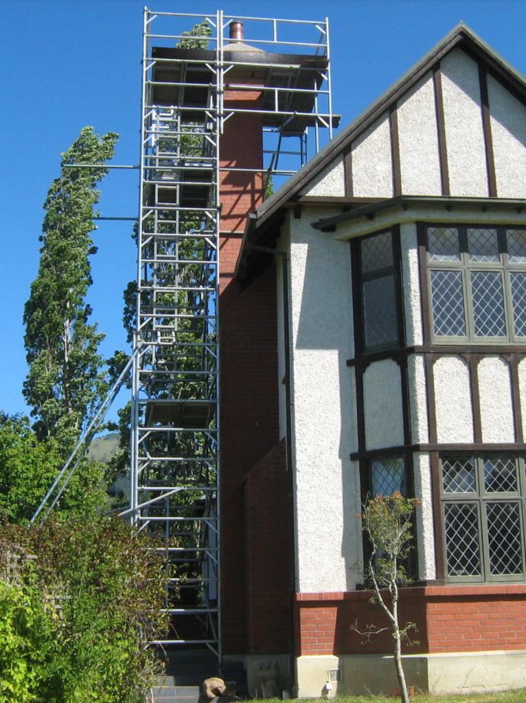 Cantilever around chimney