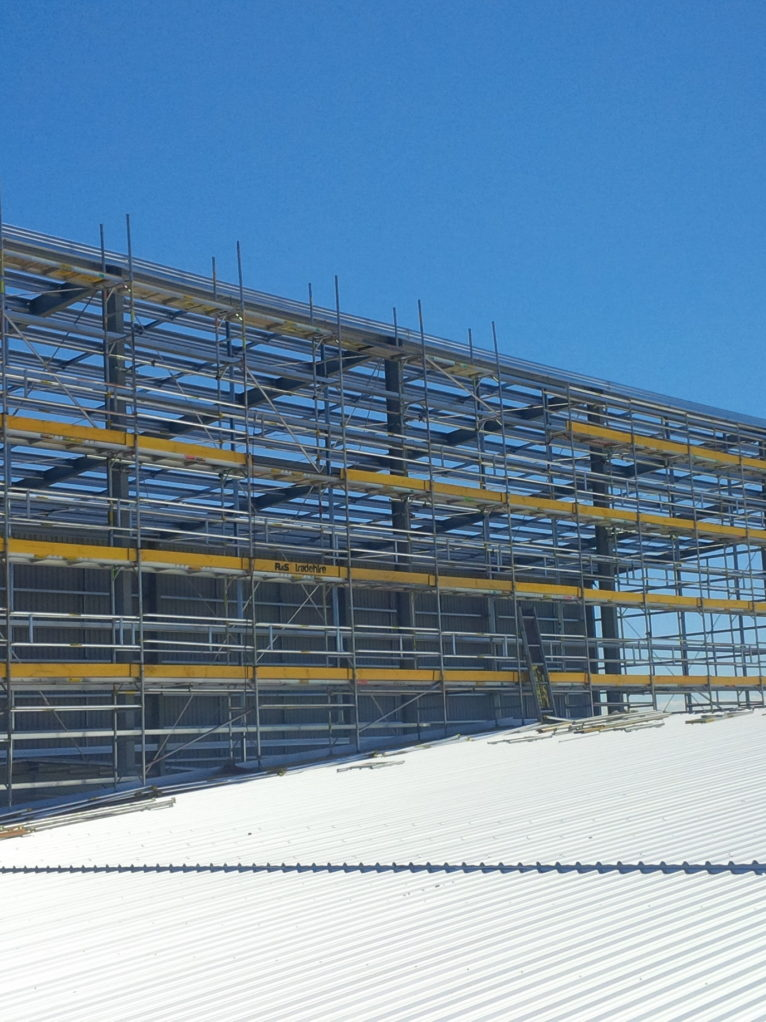 Multi Scaff Facade System on roof